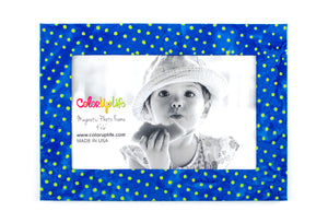 Party Blue Magnetic Picture Frame by ColorUpLife