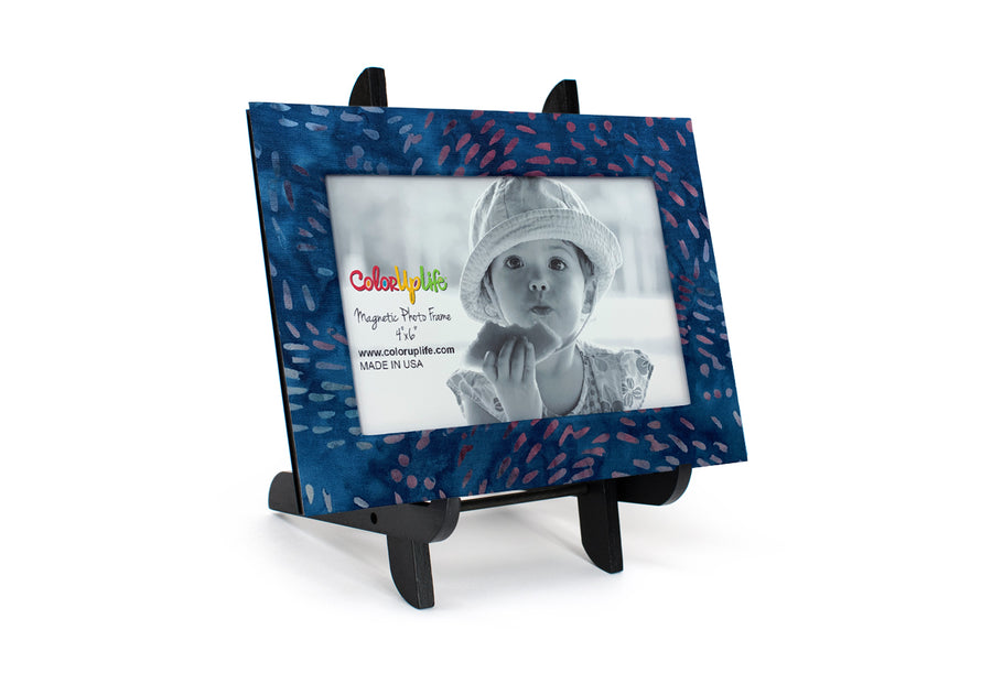 Blue Splash Magnetic Picture Frame by ColorUpLife