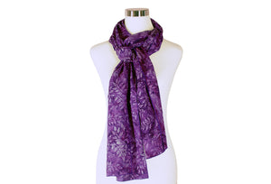 Boysenberry Batik Rayon Scarf by ColorUpLife