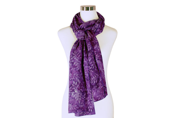 Batik Scarf - Boysenberry