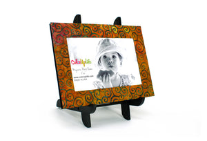 magnetic photo frame with display easel – rustic brown – ColorUpLife