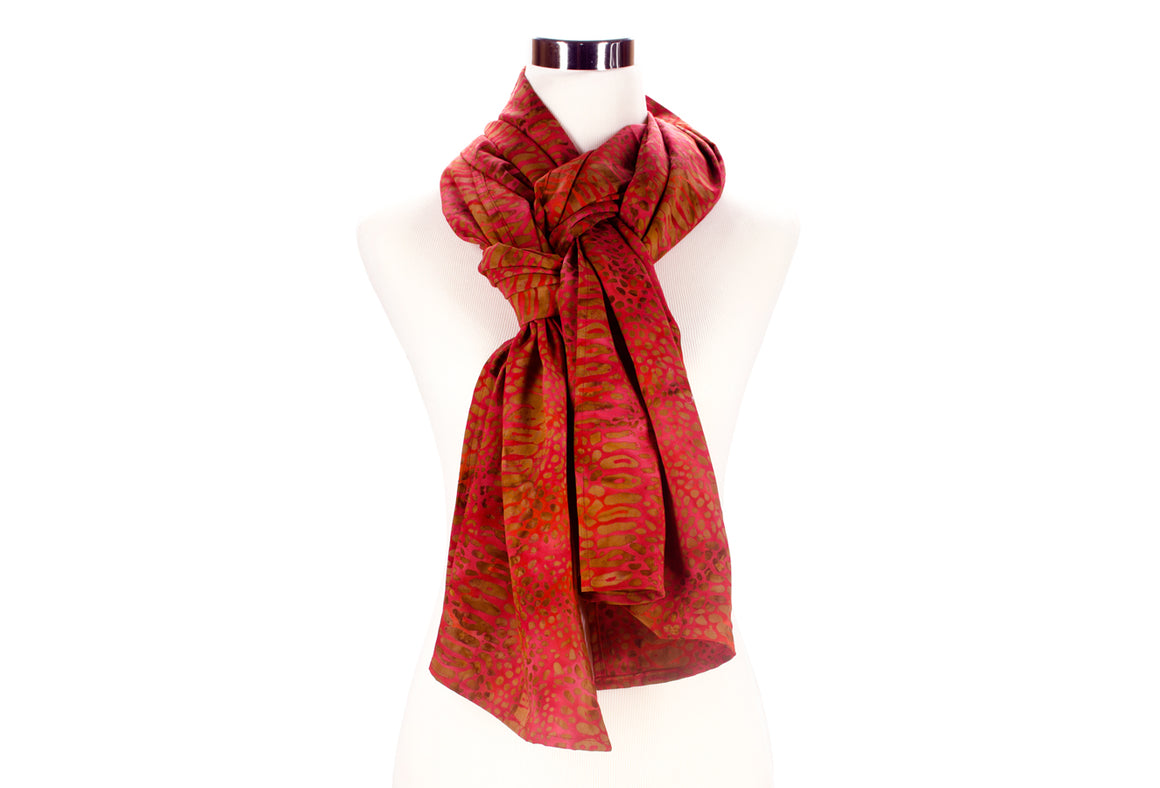 batik scarf - burnt red - ColorUpLife