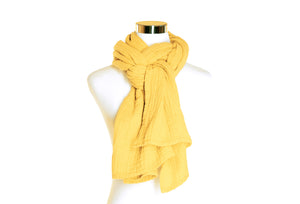 Cotton Double Gauze Scarf - Buttercup