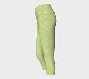 Yoga Capris - Compression Fit - Sweet Green - Zen
