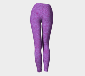 Yoga Leggings - Compression Fit - Plum - Zen