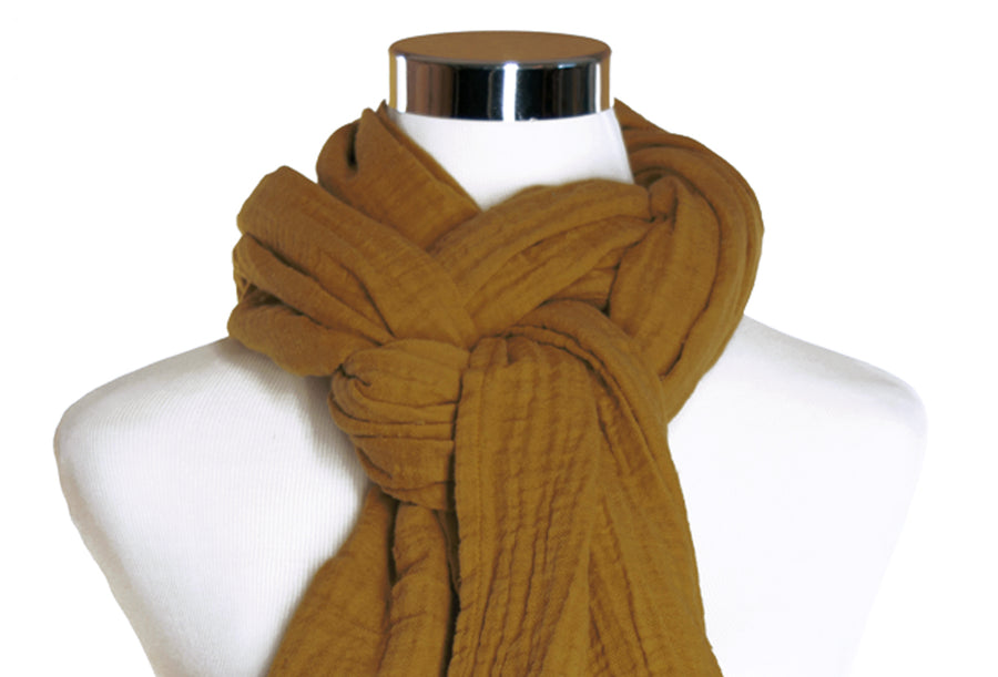 Cotton Double Gauze Scarf - Caramel