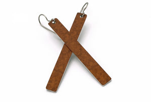 Brown Color Rod Earrings by ColorUpLife