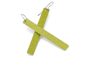 Chartreuse Color Rod Earrings by ColorUpLife