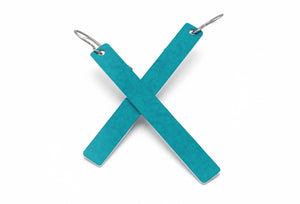 Turquoise Color Rod Earrings by ColorUpLife