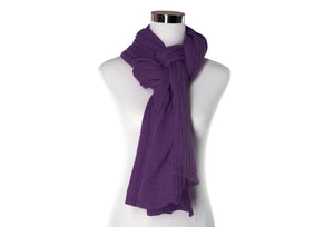 Dark Purple Double Gauze Scarf by ColorUpLife