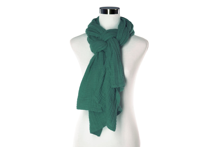 deep teal green cotton scarf by ColorUpLife