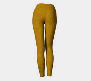 Yoga Leggings - Compression Fit - Mustard - Zen