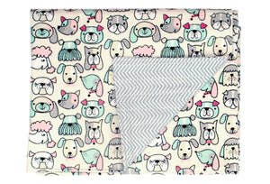 Reversible Flannel Blanket - Dogs - ColorUpLife