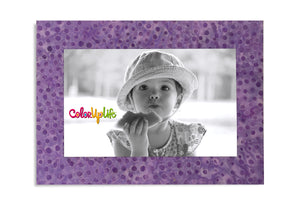 Magnetic Picture Frame - Dotty Purple