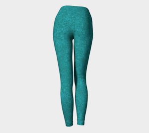 Yoga Leggings - Compression Fit - Teal - Zen