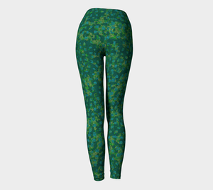 Yoga Leggings - Compression Fit - Teal - Be Square