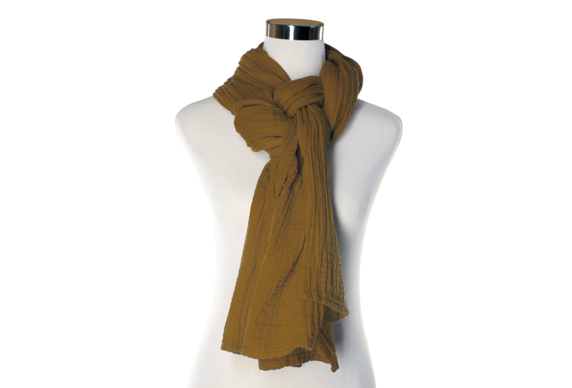 Earth Cotton Double Gauze Scarf by ColorUpLife