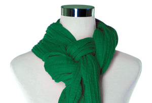 Emerald Cotton Double Gauze Infinity Scarf by ColorUpLife
