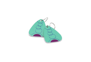 Teal Eva Earrings by ColorUpLife