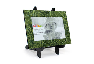 Evergreen Magnetic Picture Frame Displayed on a Decorative Easel by ColorUpLife