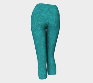 Yoga Capris - Compression Fit - Teal - Zen