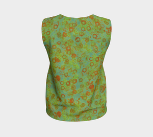 Loose Tank Top - Watercolor Circles - Green