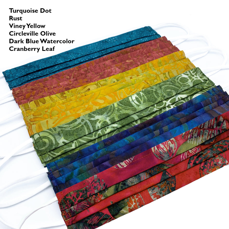 Regular Fit Batik Face Masks by ColorUpLife