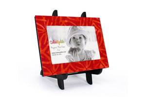 Fantasia Red Magnetic Picture Frame Displayed on a Decorative Easel by ColorUpLife