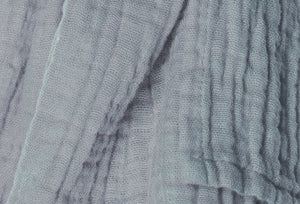 cotton double gauze scarf fabric swatch - fossil gray - ColorUpLife