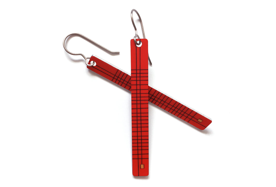 frankie earrings - bright red - ColorUpLife
