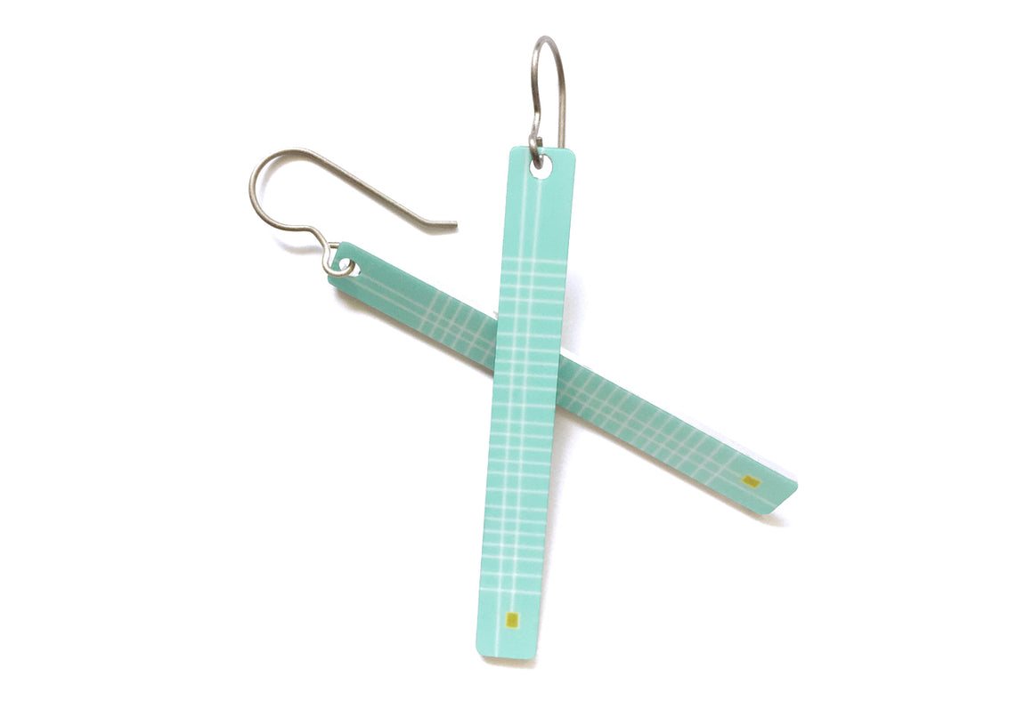 frankie earrings - light teal - ColorUpLife