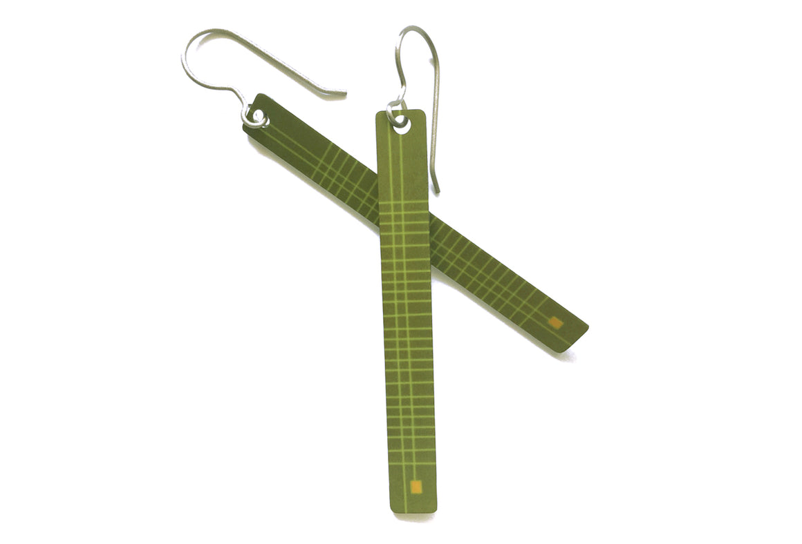 frankie earrings - olive - ColorUpLife