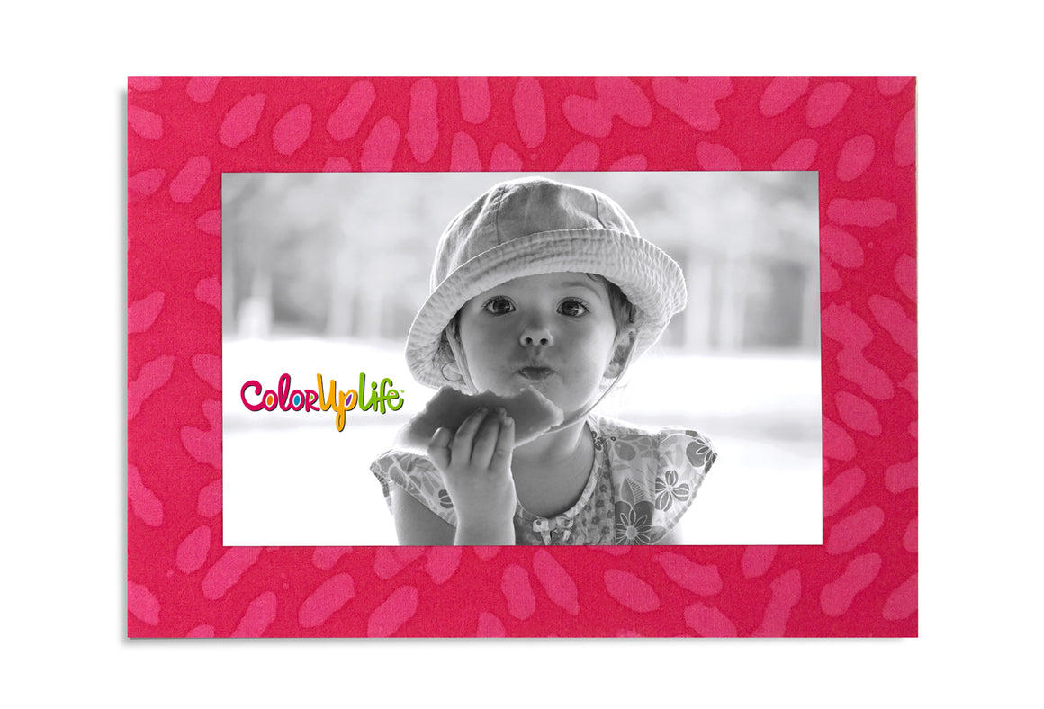 Magnetic Picture Frame - Fuchsia Petals