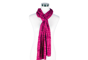 Fuchsia Batik Scarf by ColorUpLife