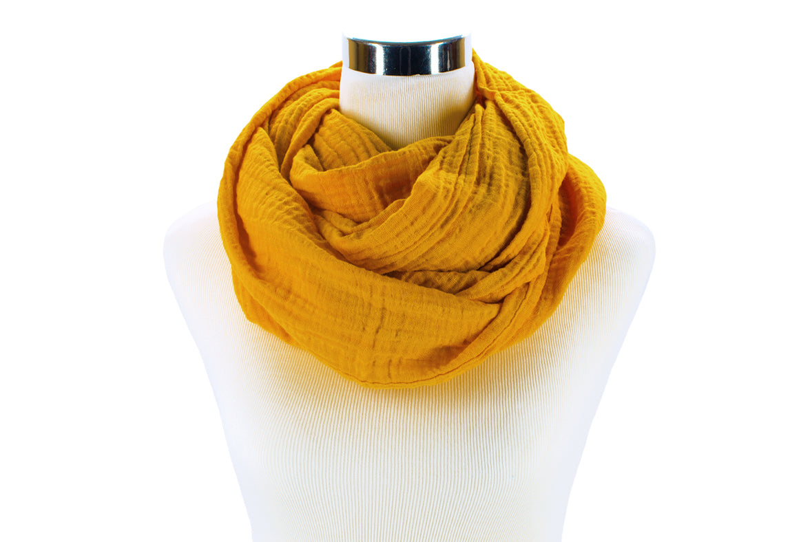 Golden Yellow Infinity Scarf by ColorUpLife