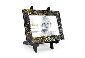 Grellow Leaf Magnetic Picture Frame Displayed on a Decorative Easel by ColorUpLife