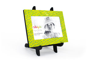 Lime Magnetic Picture Frame Displayed on a Decorative Easel by ColorUpLife