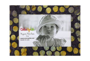 Grellow Dot Magnetic Photo Frame by ColorUpLife