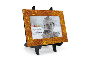 Harvest Gold Magnetic Picture Frame Displayed on a Decorative Easel by ColorUpLife