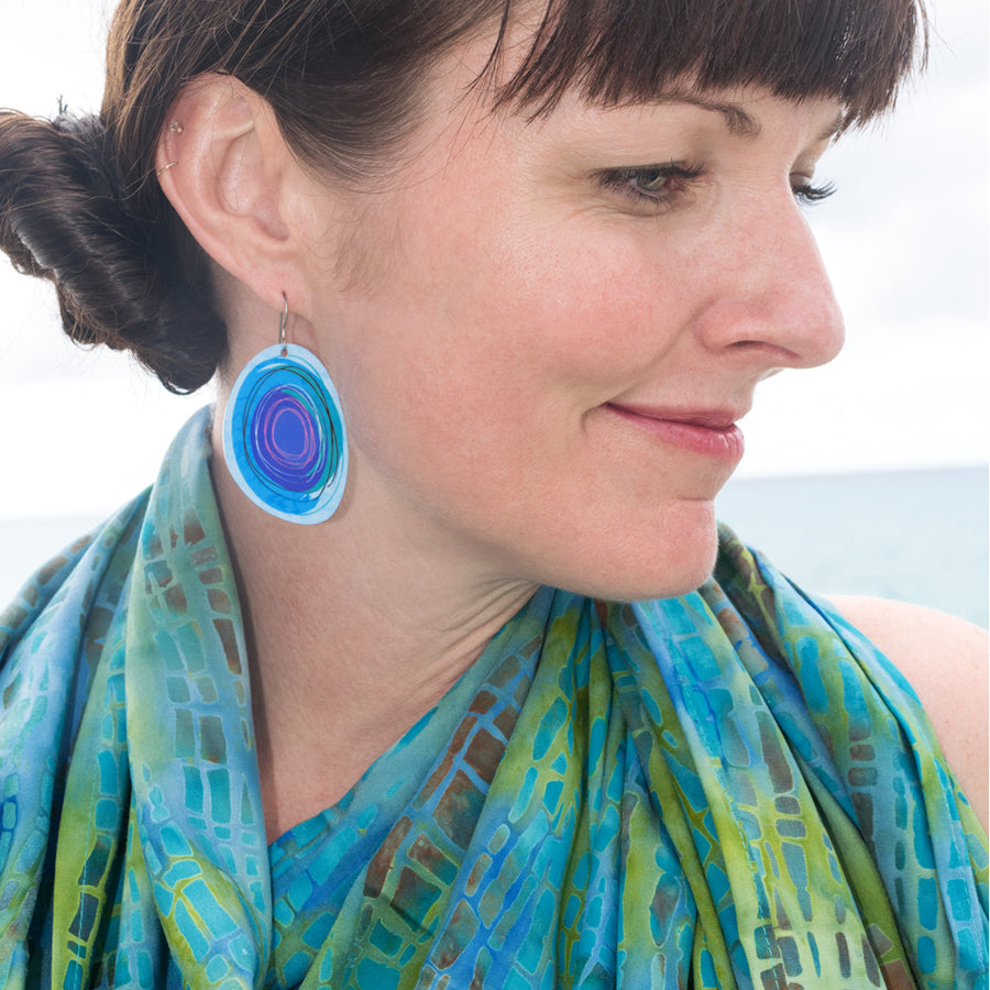Blue Maisie Earrings by ColorUpLife