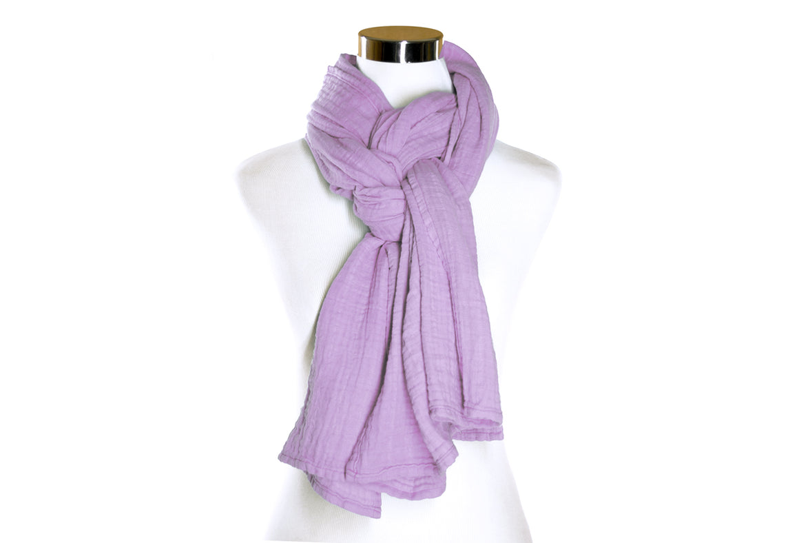 Lavender Cotton Double Gauze Scarf by ColorUpLife