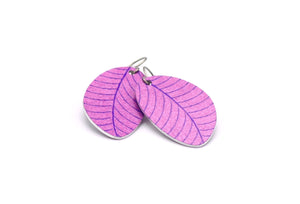 Lilac Organic Leaf Earrings by ColorUpLife
