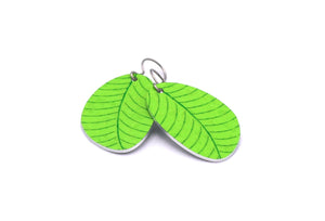 Lime Organic Leaf Earrings by ColorUpLife