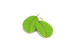 Sage Organic Leaf Earrings by ColorUpLife