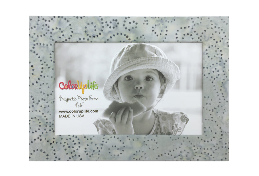 magnetic photo frame - light gray swirls - ColorUpLife