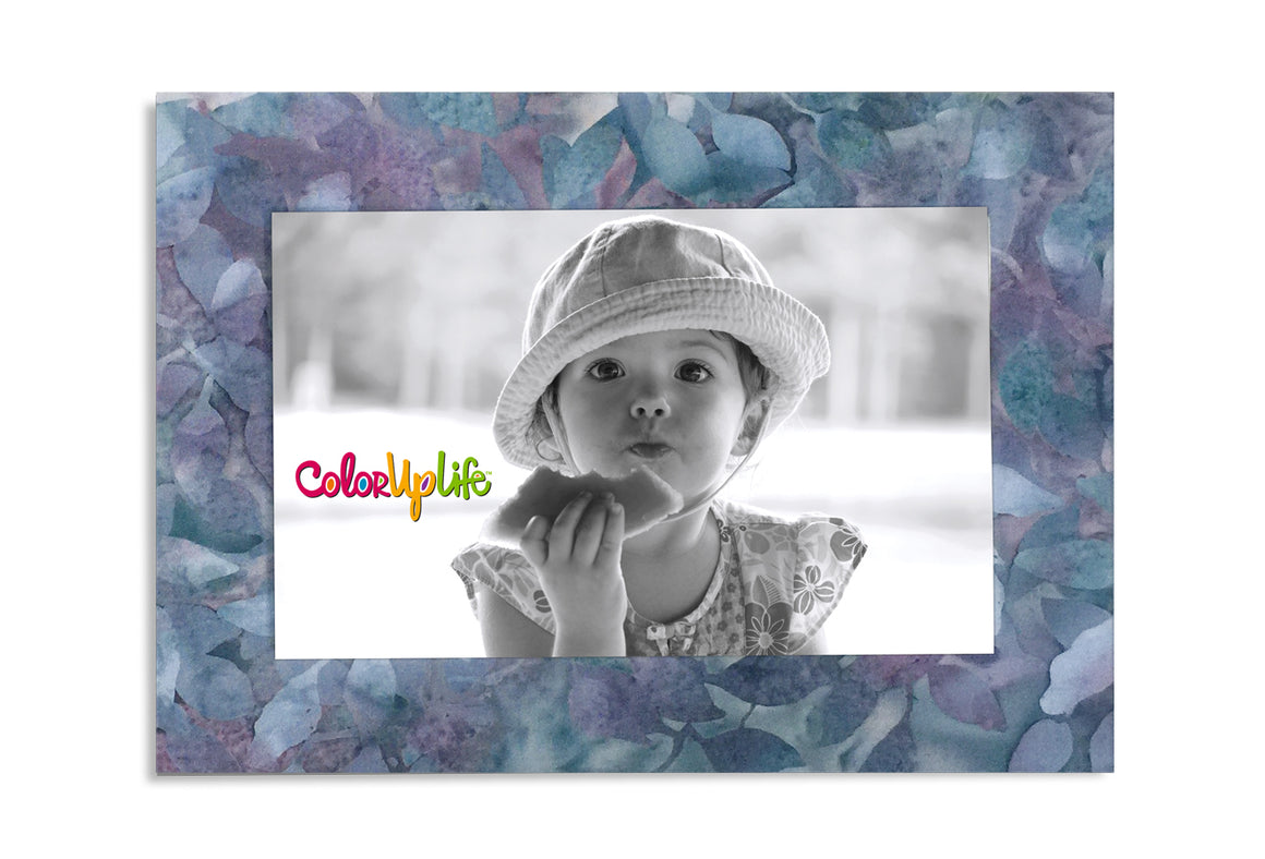 Magnetic Picture Frame - Light Purple Leaves