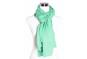 Light Seafoam Cotton Double Gauze Scarf by ColorUpLife