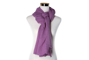 Lilac Cotton Double Gauze Scarf by ColorUpLife