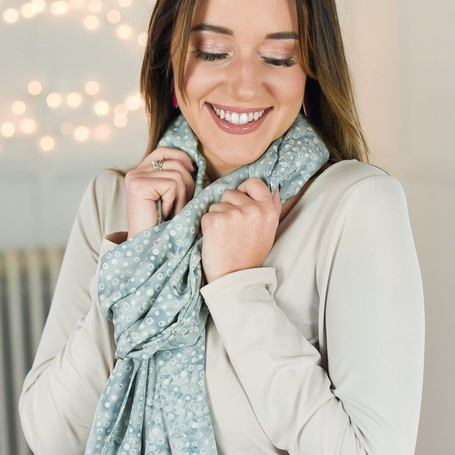 batik rayon scarf - harbor gray - ColorUpLife