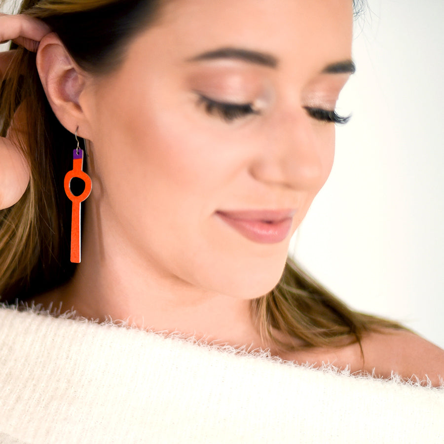 Orange Lollie Earrings by ColorUpLife